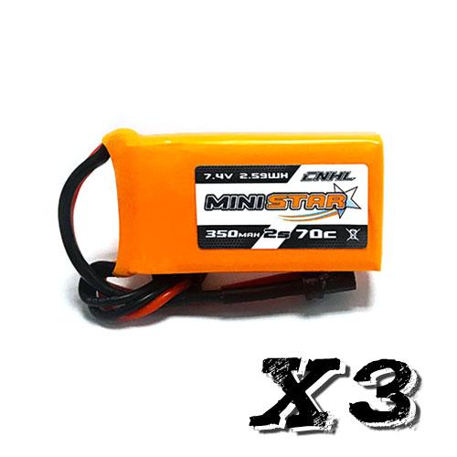 CNHL MiniStar 2S 350mah 70C - Pack de 3