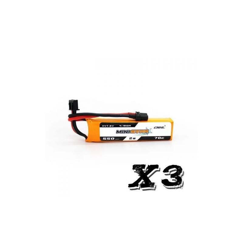CNHL MiniStar 2S HV 550mAh 70C - Pack de 3