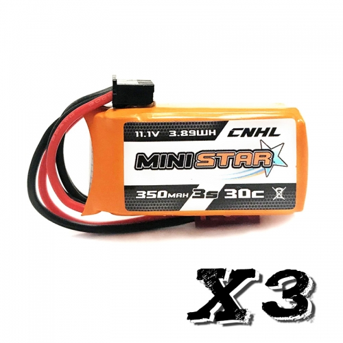 CNHL MiniStar 3S 350mAh 30C - Pack de 3