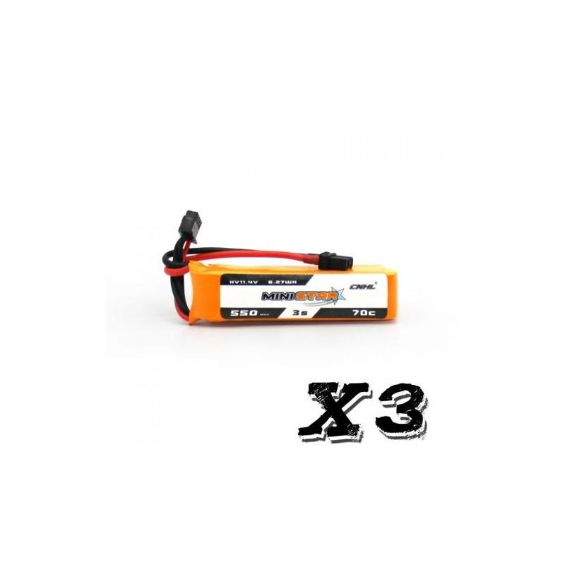 CNHL MiniStar 3S HV 550mAh 70C - Pack de 3