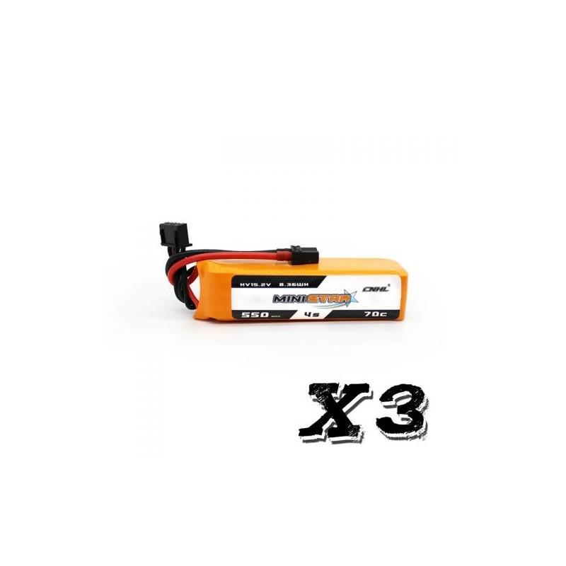 CNHL MiniStar 4S HV 550mAh 70C - Pack de 3