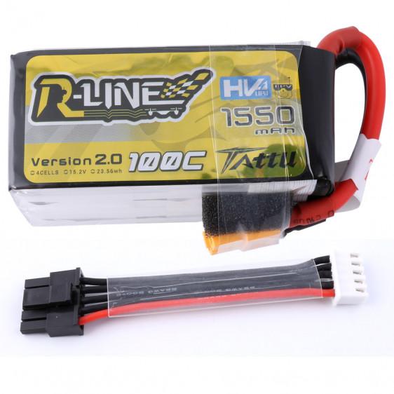 Tattu R-Line V2 4S HV 1550mAh 100C - prise d'équilibrage détachable
